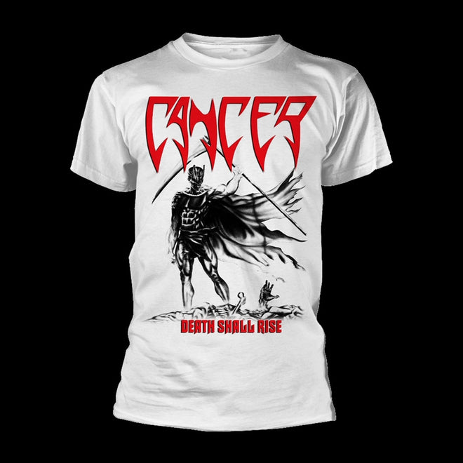 Cancer - Death Shall Rise (White) (T-Shirt)