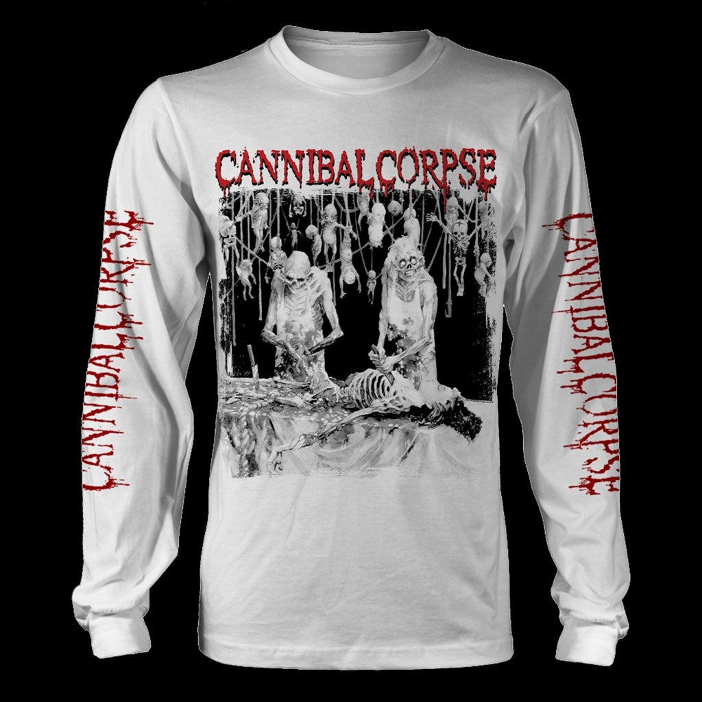 Cannibal Corpse - Butchered at Birth (Original) (White) (Long Sleeve T-Shirt)