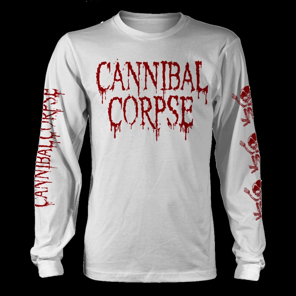 Cannibal Corpse - Butchered at Birth (White) (Long Sleeve T-Shirt)
