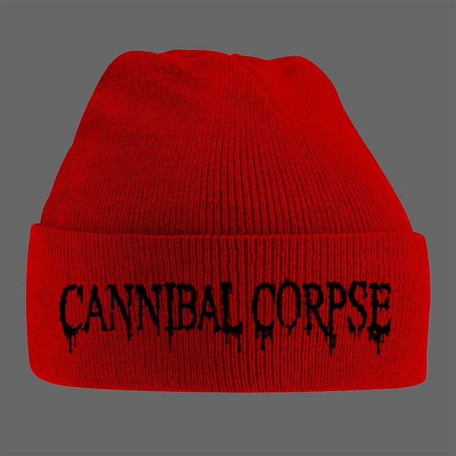Cannibal Corpse - Dripping Logo (Red) (Beanie)