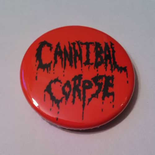 Cannibal Corpse - Old Logo (Black on Red) (Badge)