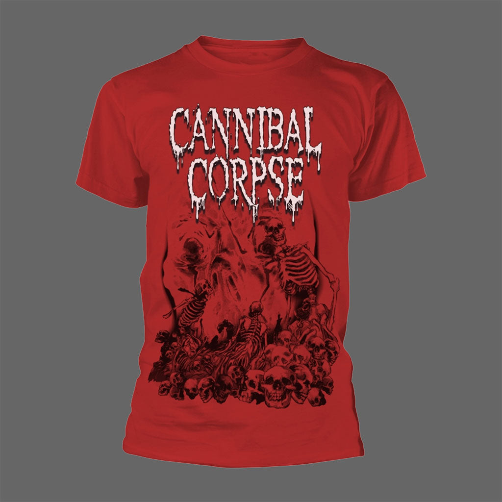 Cannibal Corpse - Pile of Skulls (Red) (T-Shirt)