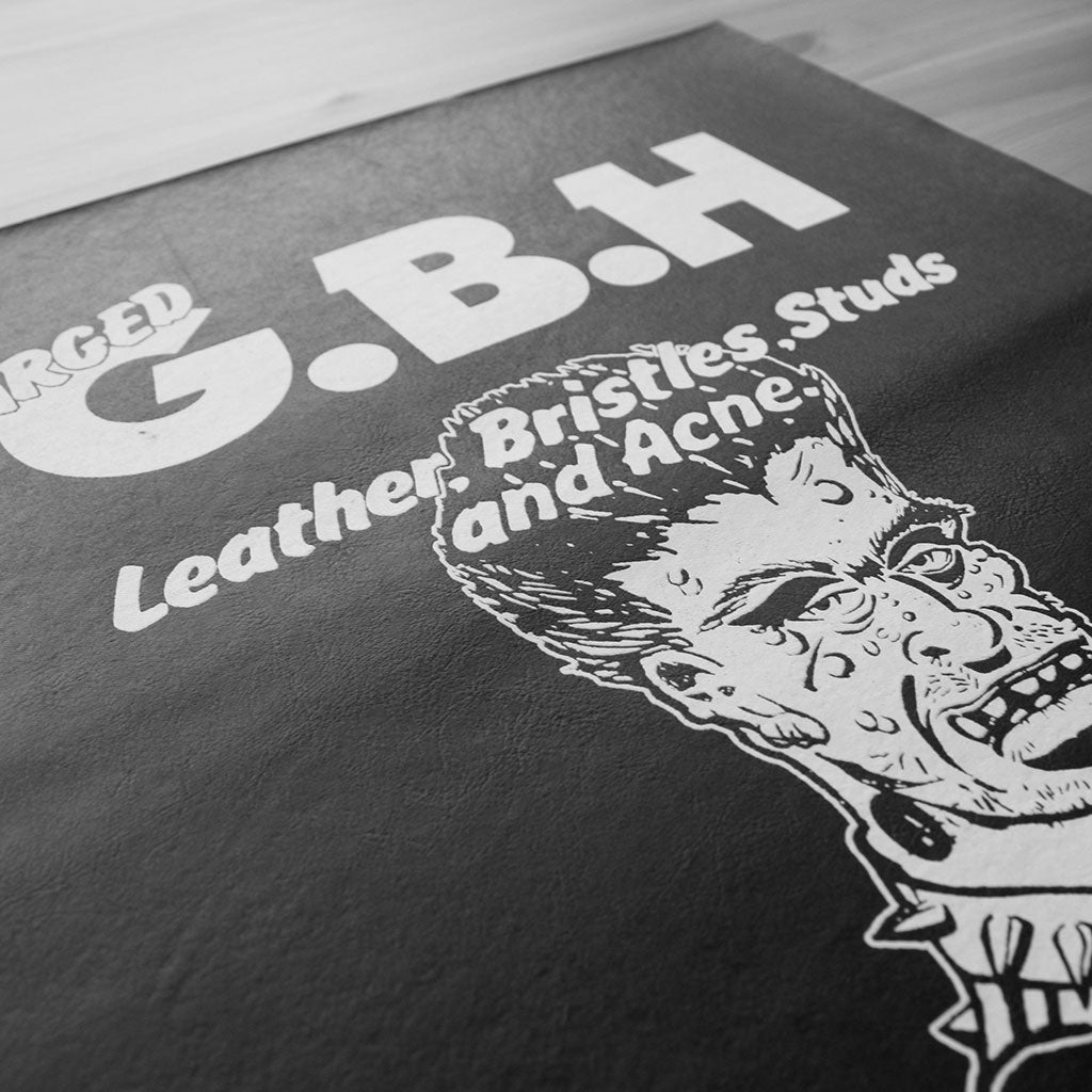 Charged GBH - Leather, Bristles, Studs and Acne (Leather) (Backpatch)