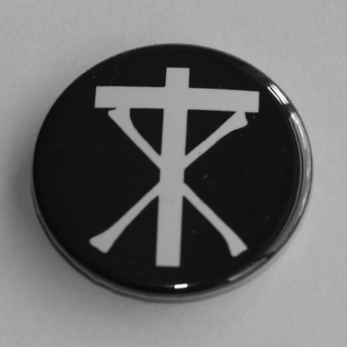 Christian Death - White Logo Symbol (Badge)