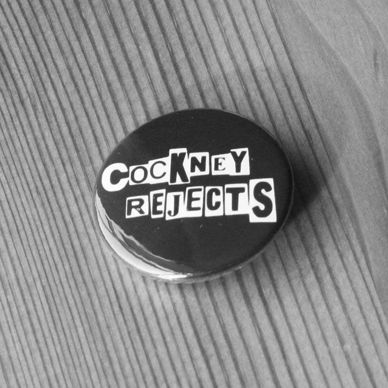 Cockney Rejects - White Logo (Badge)