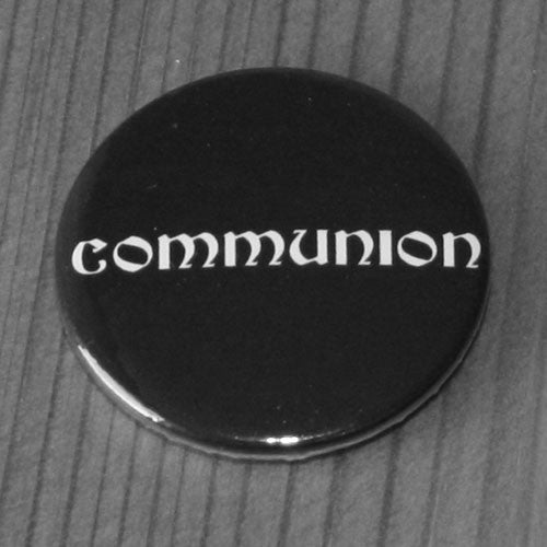 Communion - White Logo (Badge)