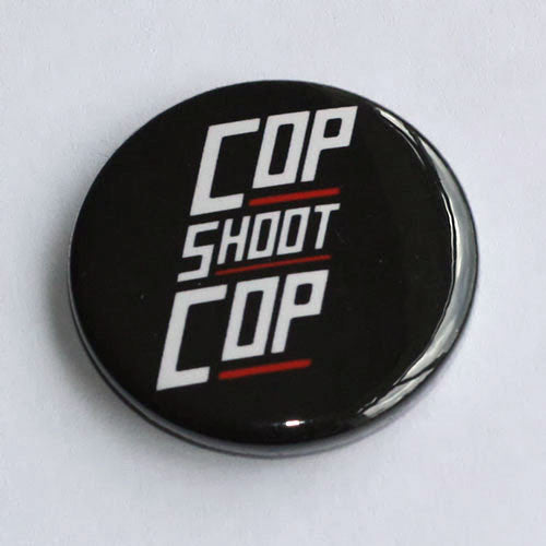 Cop Shoot Cop - White Logo (Badge)