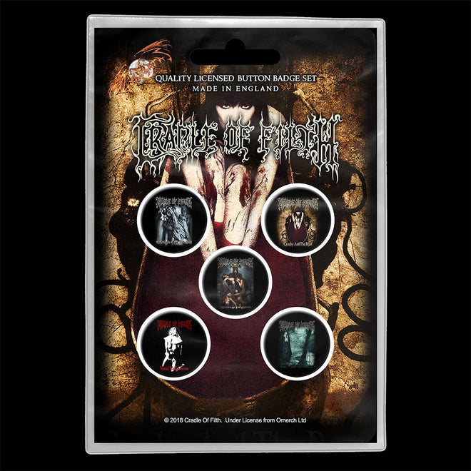 Cradle of Filth - Early Albums (Badge Pack)