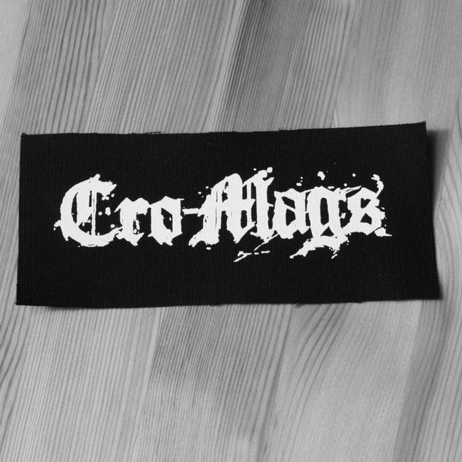 Cro-Mags - White Logo (Printed Patch)