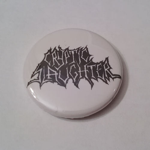 Cryptic Slaughter - Black Logo (Badge)