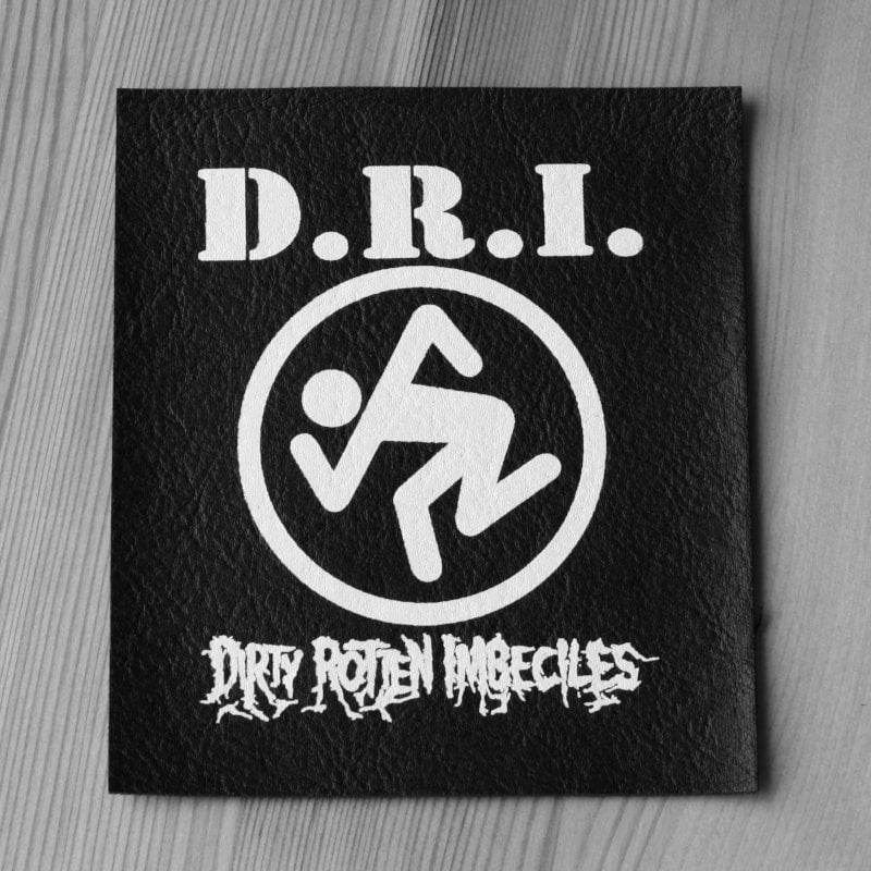 D.R.I. - White Logo & Skanker Man (Leather) (Printed Patch)