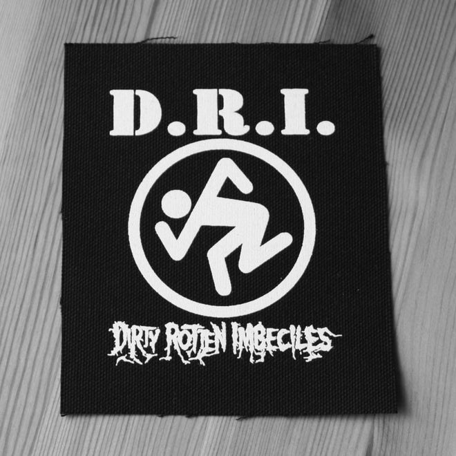 D.R.I. - White Logo & Skanker Man (Printed Patch)