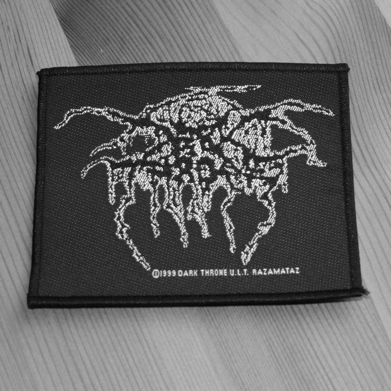 Darkthrone - White Outline Logo (Woven Patch)