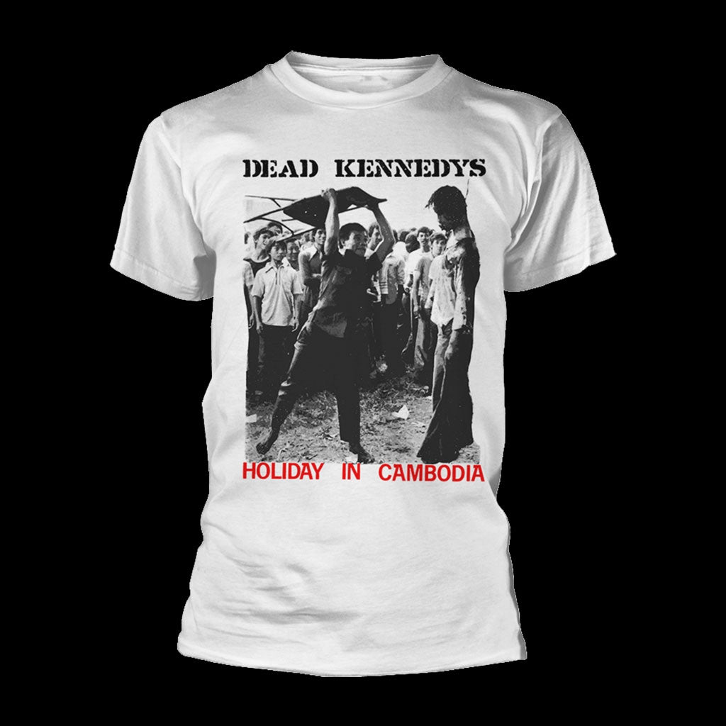 Dead Kennedys - Holiday in Cambodia (White) (T-Shirt)