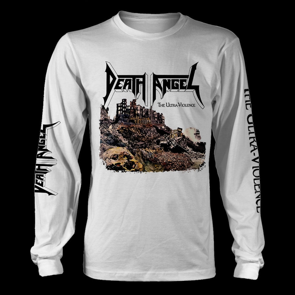 Death Angel - The Ultra-Violence (White) (Long Sleeve T-Shirt)