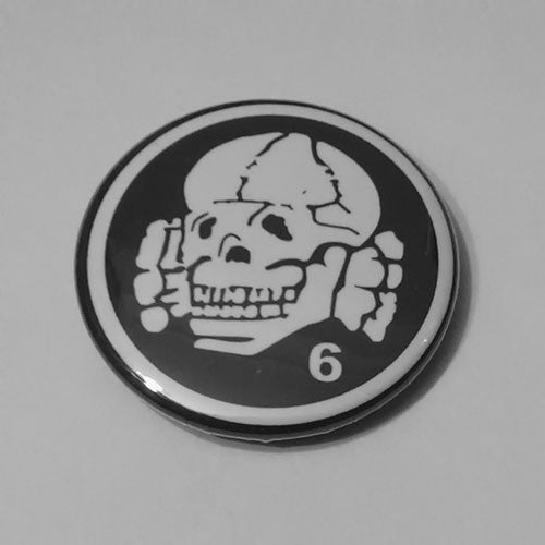Death in June - White Logo Totenkopf (Badge)
