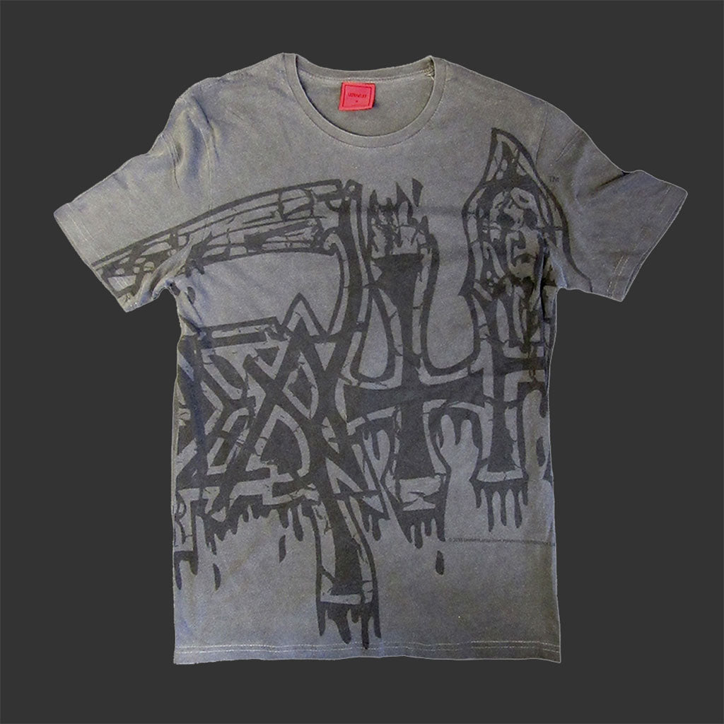 Death - Oversized Black Logo (Vintage Wash) (T-Shirt)