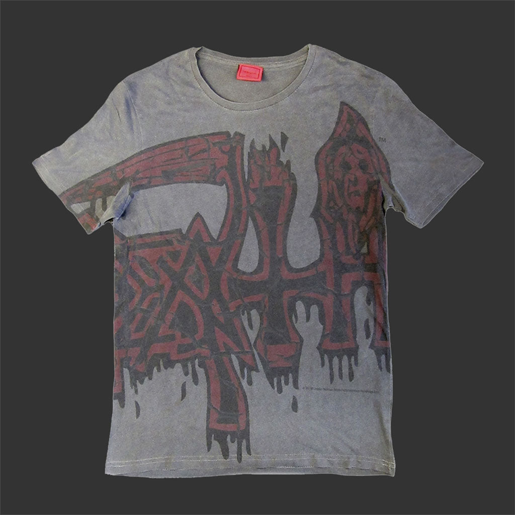 Death - Oversized Red Logo (Vintage Wash) (T-Shirt)