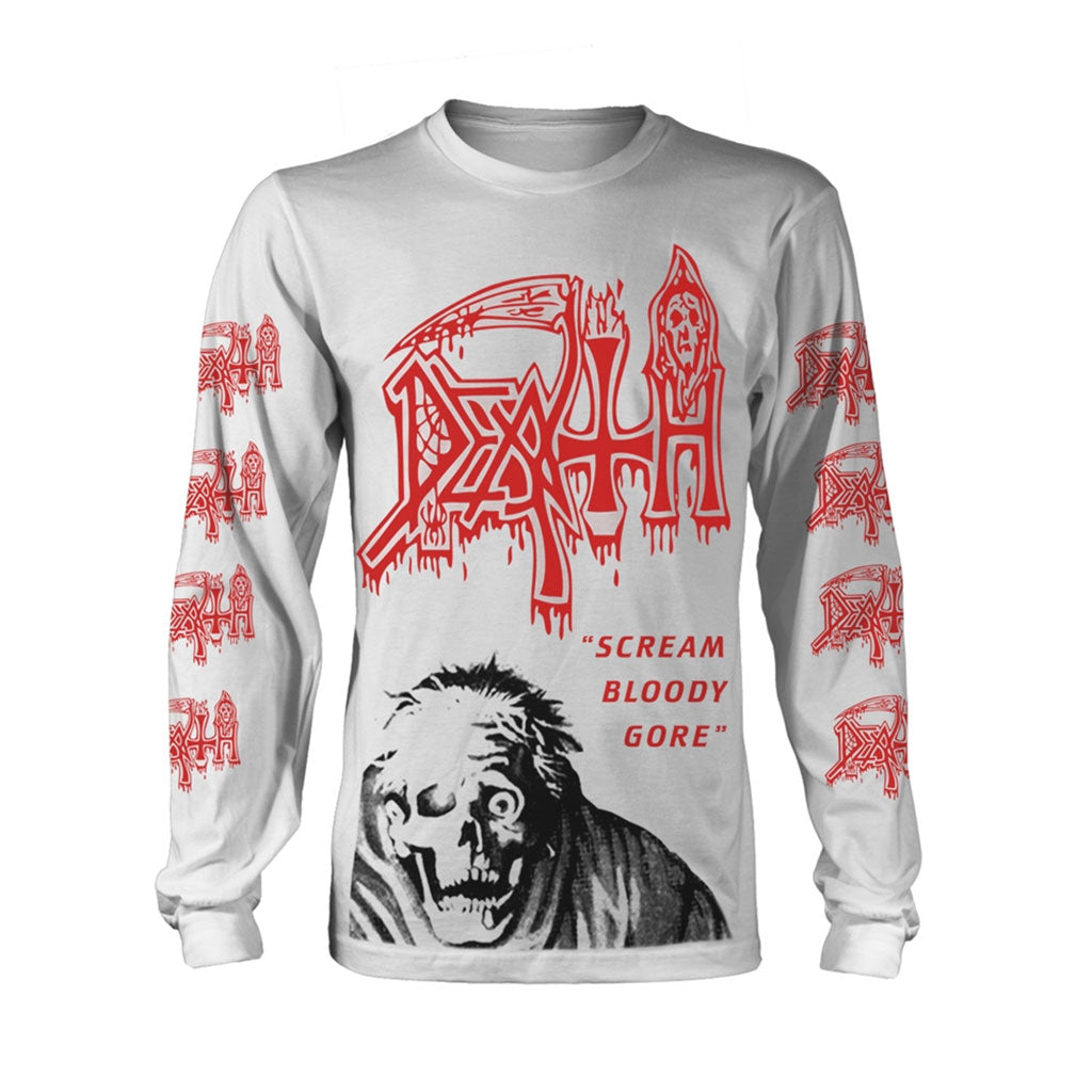 Death - Scream Bloody Gore (Skull) (Long Sleeve T-Shirt)