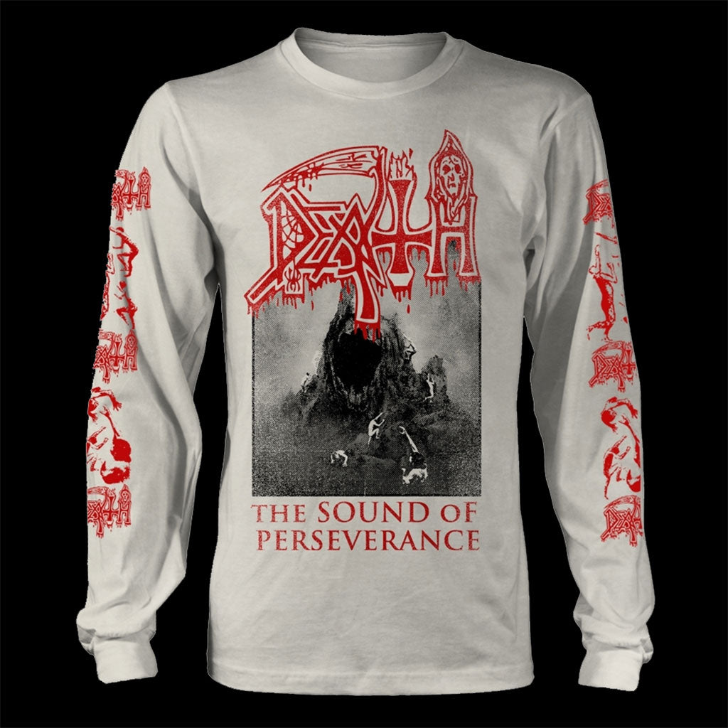 Death - The Sound of Perseverance (White) (Long Sleeve T-Shirt)