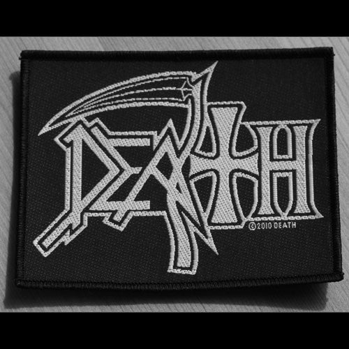 Death - White Logo (Woven Patch)