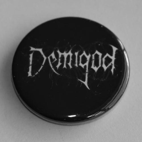 Demigod - White Logo (Badge)