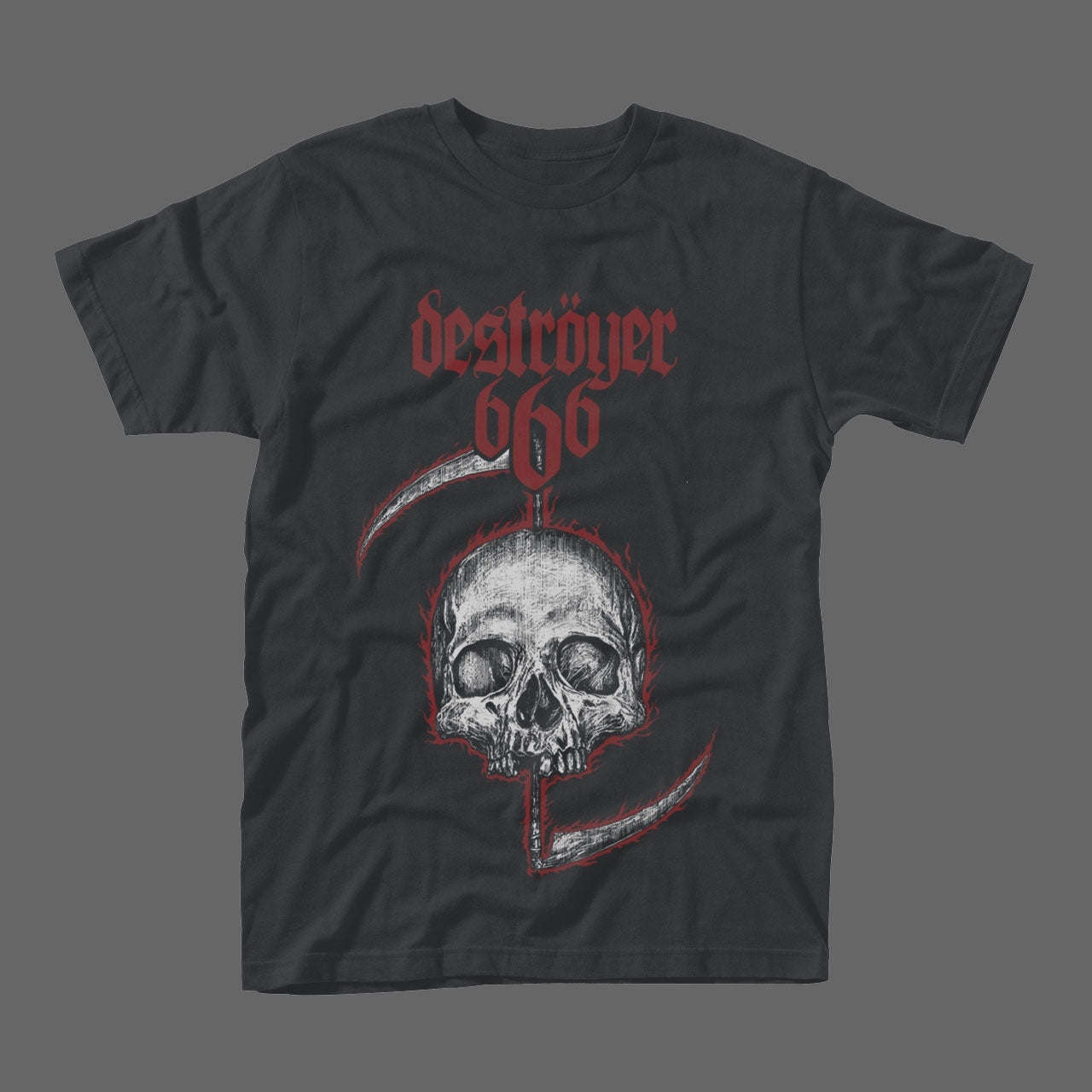 Destroyer 666 - Wildfire Skull (T-Shirt)