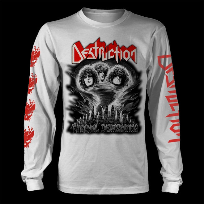 Destruction - Eternal Devastation (Black & White) (Long Sleeve T-Shirt)