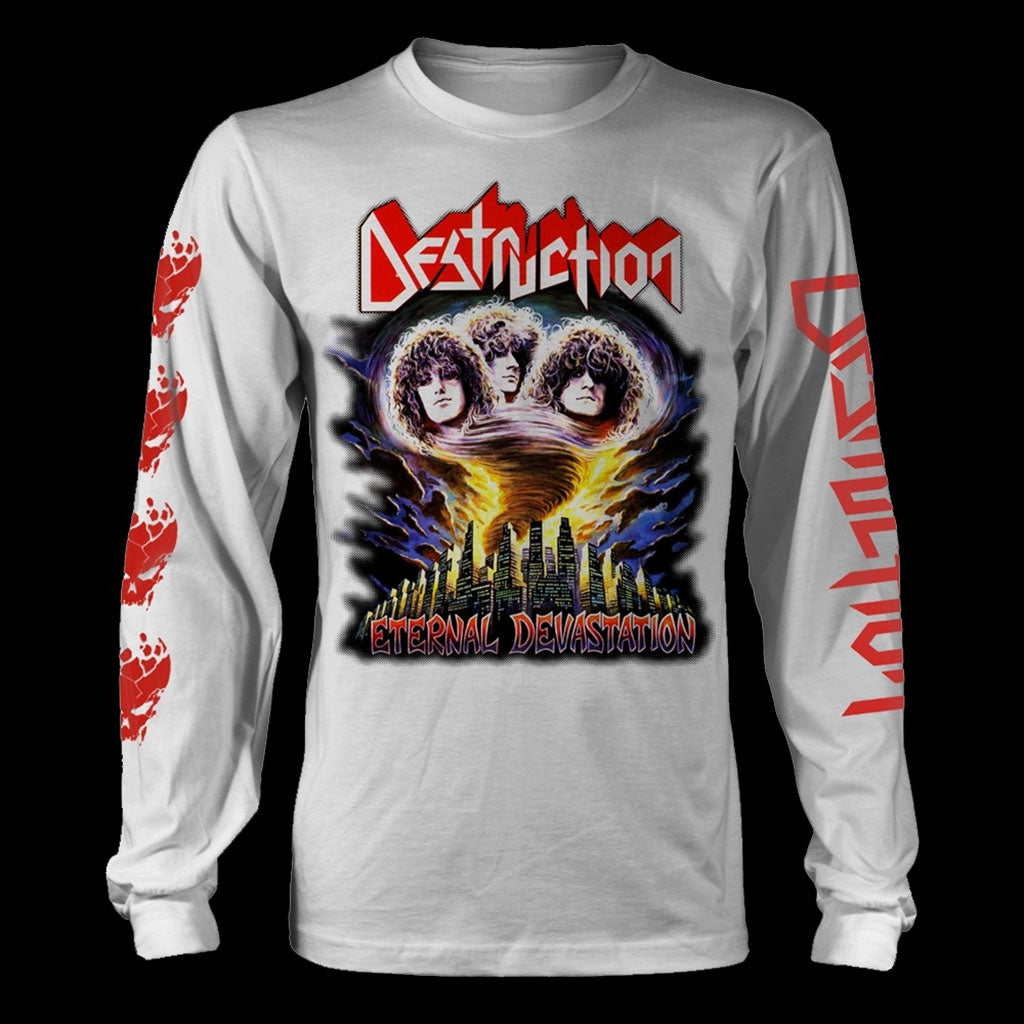 Destruction - Eternal Devastation (White) (Long Sleeve T-Shirt)