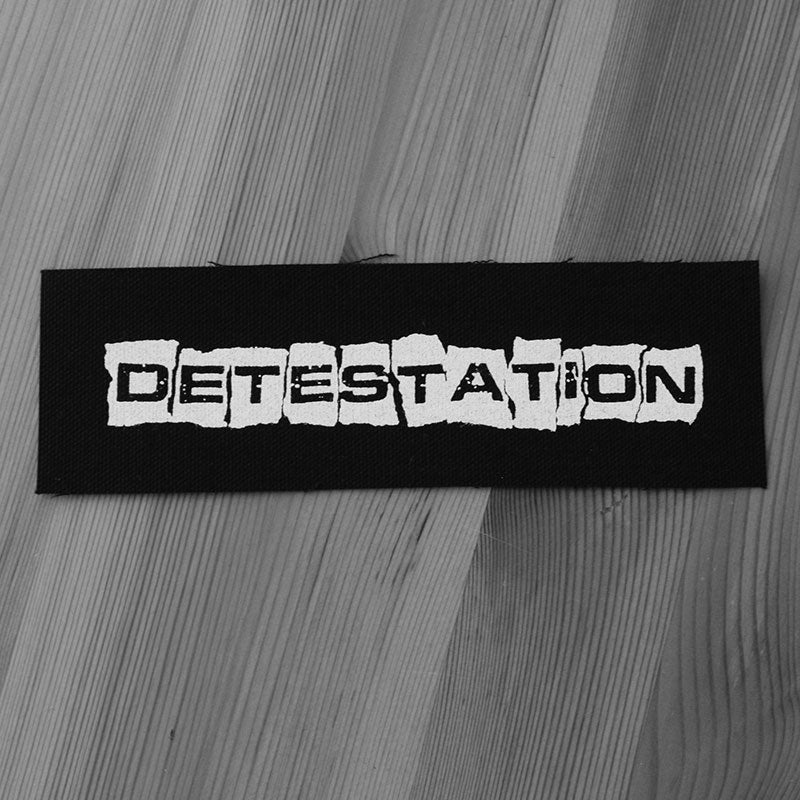 Detestation - Logo (Printed Patch)