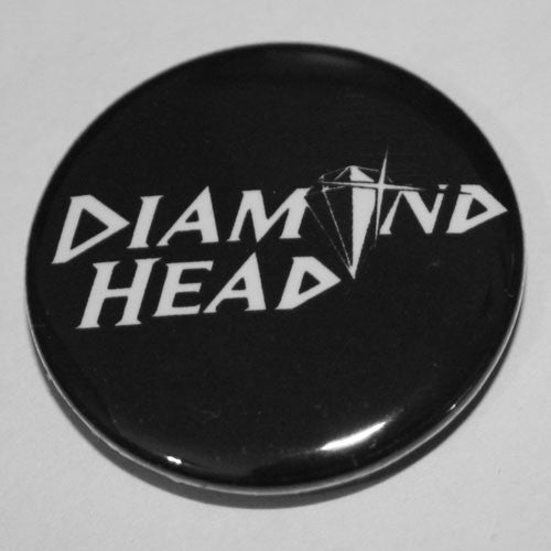 Diamond Head - White Old Logo (Badge)