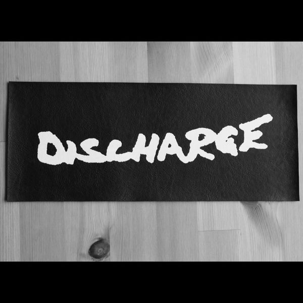 Discharge - Logo (Leather) (Superstrip) (Backpatch)
