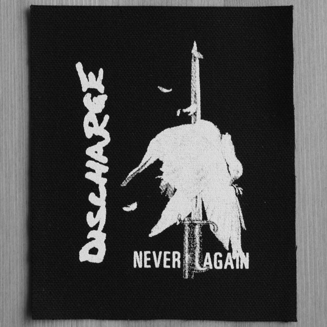 Discharge - Never Again (Printed Patch)