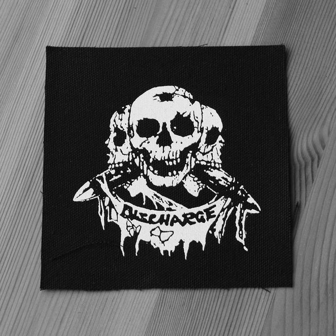 Discharge - Three Skulls (Printed Patch)