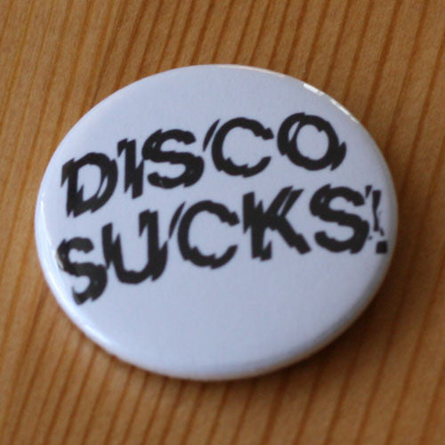 Disco Sucks Black Logo (Badge)