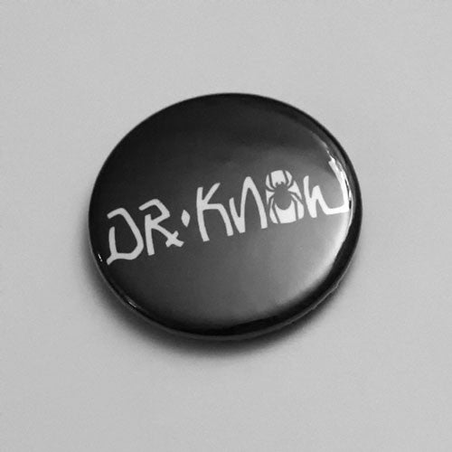 Dr Know - White Logo (Badge)