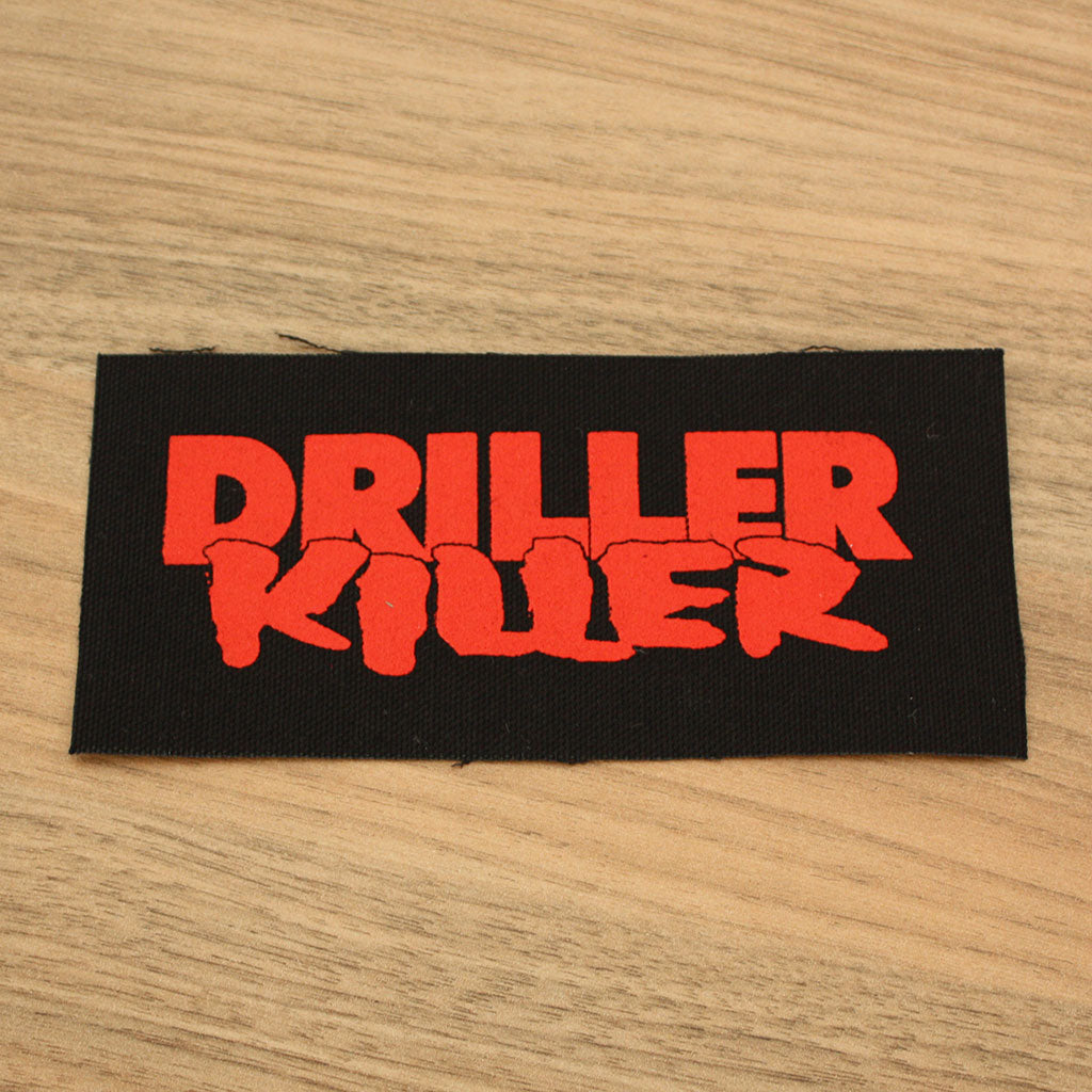 Driller Killer - Red Logo (Printed Patch)