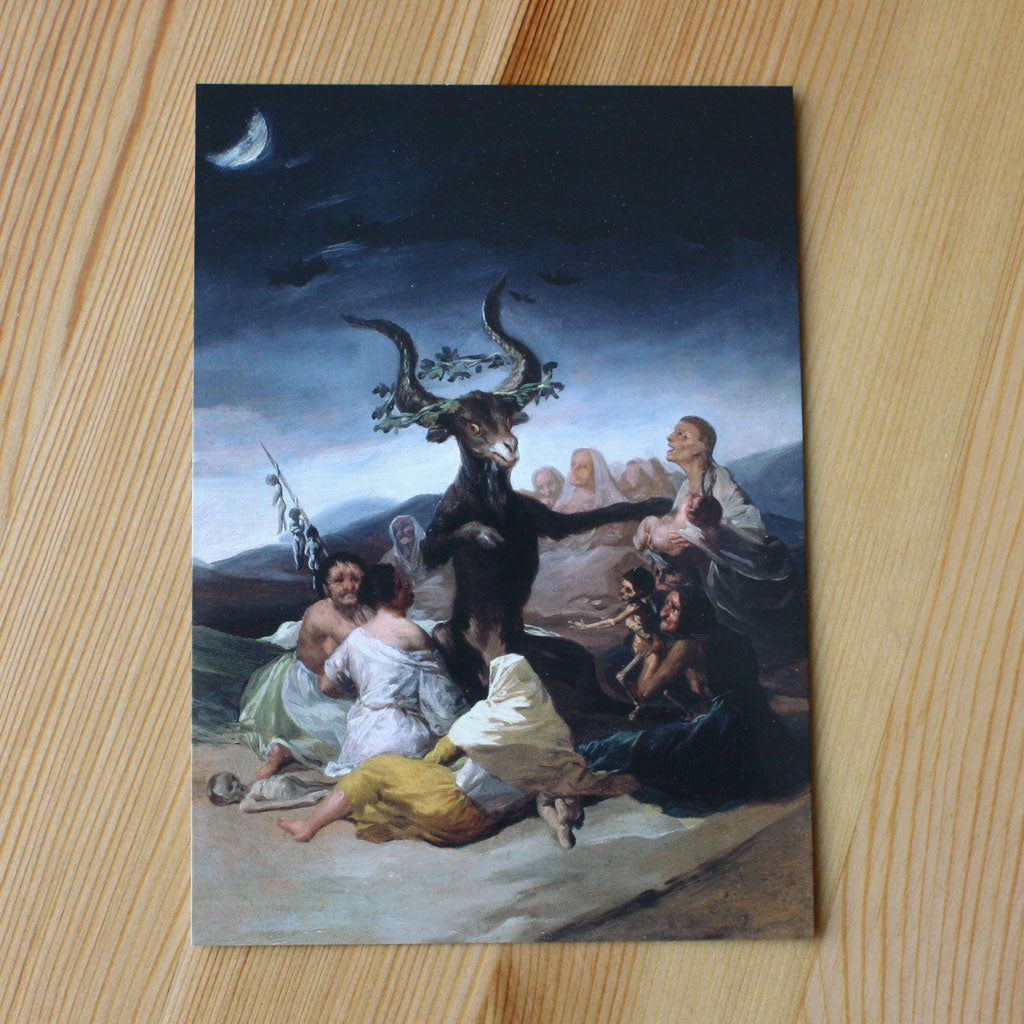 El Aquelarre (Witches Sabbath) (Postcard)