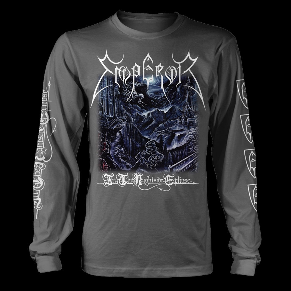 Emperor - In the Nightside Eclipse (Grey & Blue) (Long Sleeve T-Shirt)