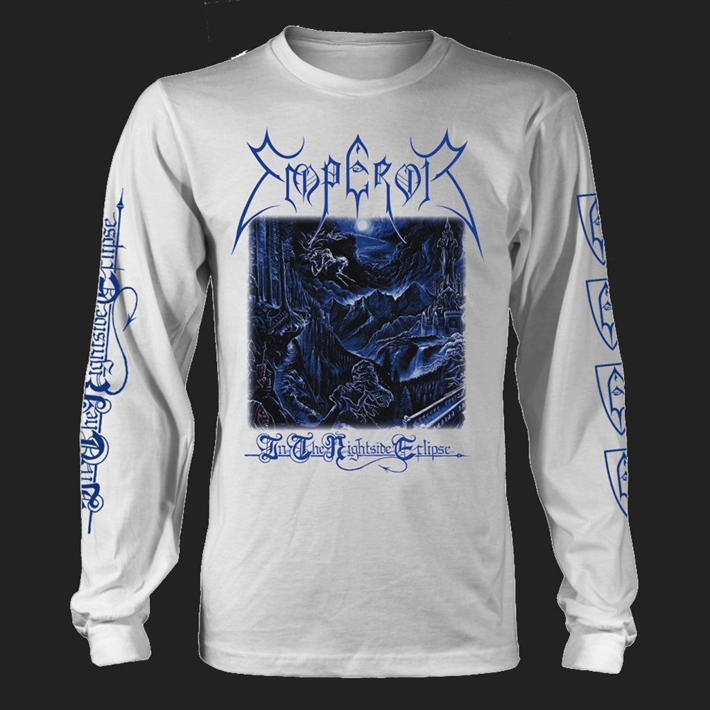 Emperor - In the Nightside Eclipse (White) (Long Sleeve T-Shirt)