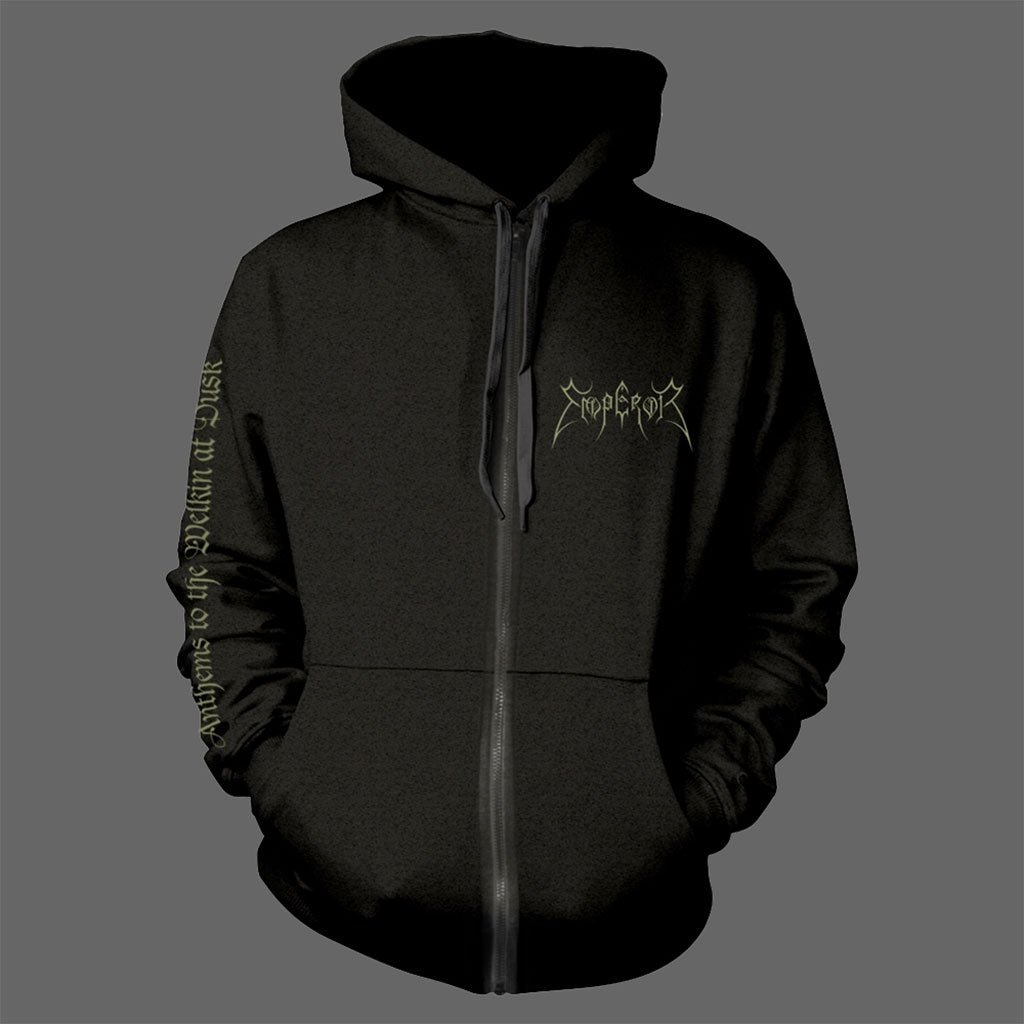 Emperor - Logo / Anthems to the Welkin at Dusk (Full Zip Hoodie)