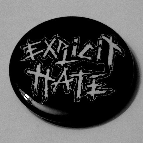 Explicit Hate - White Logo (Badge)