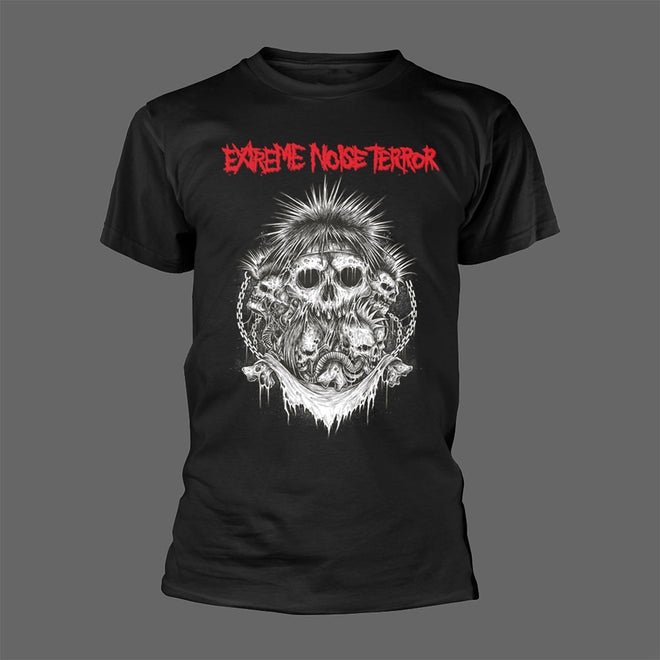 Extreme Noise Terror - Red Logo / Grinders Inc (T-Shirt)