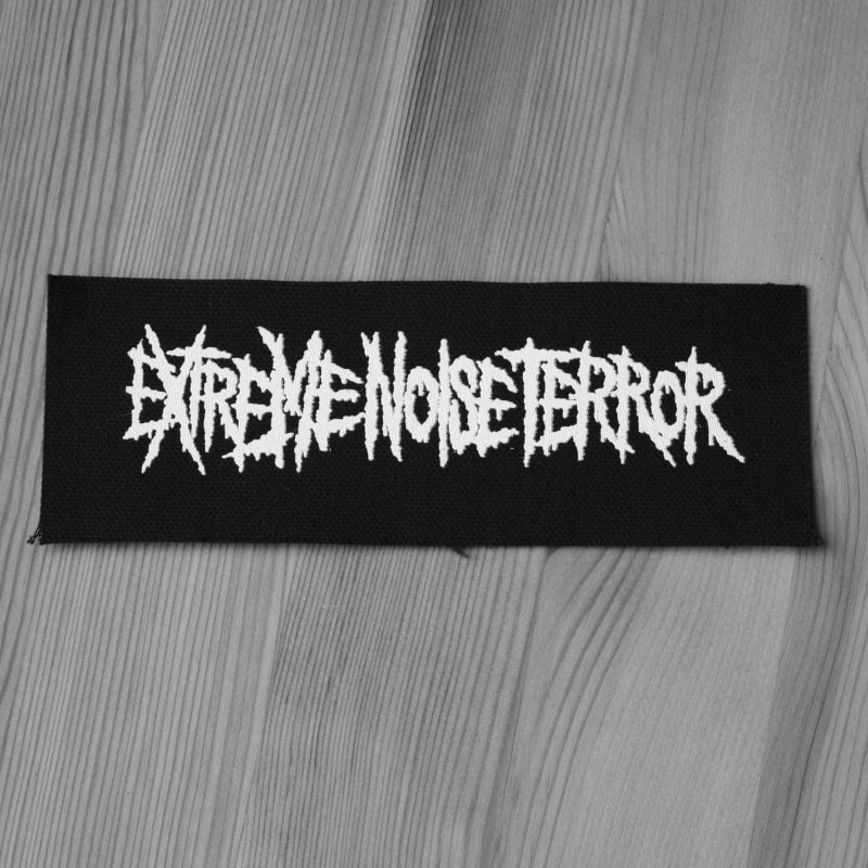 Extreme Noise Terror - White Logo (Printed Patch)