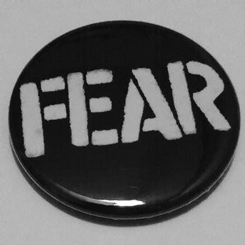 Fear - White Logo (Badge)