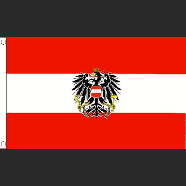 Flag of Austria with Coat of Arms (Flag)