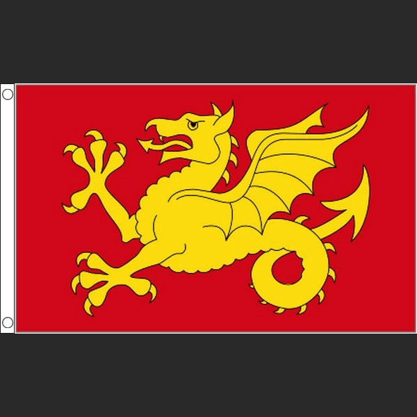 Flag of Wessex (Gold Wyvern) (Flag)
