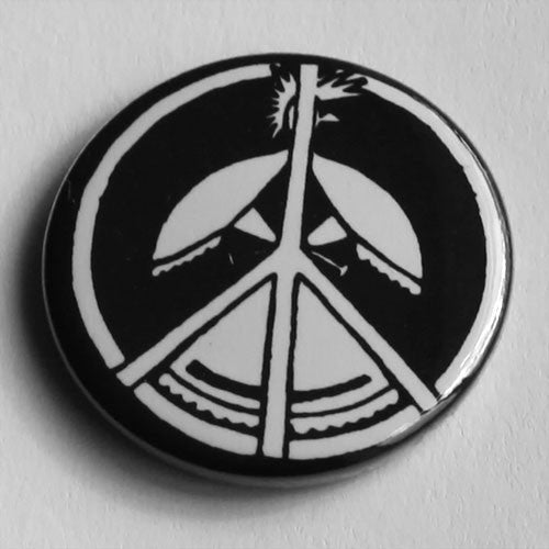 Flux of Pink Indians - Peace Symbol (Badge)