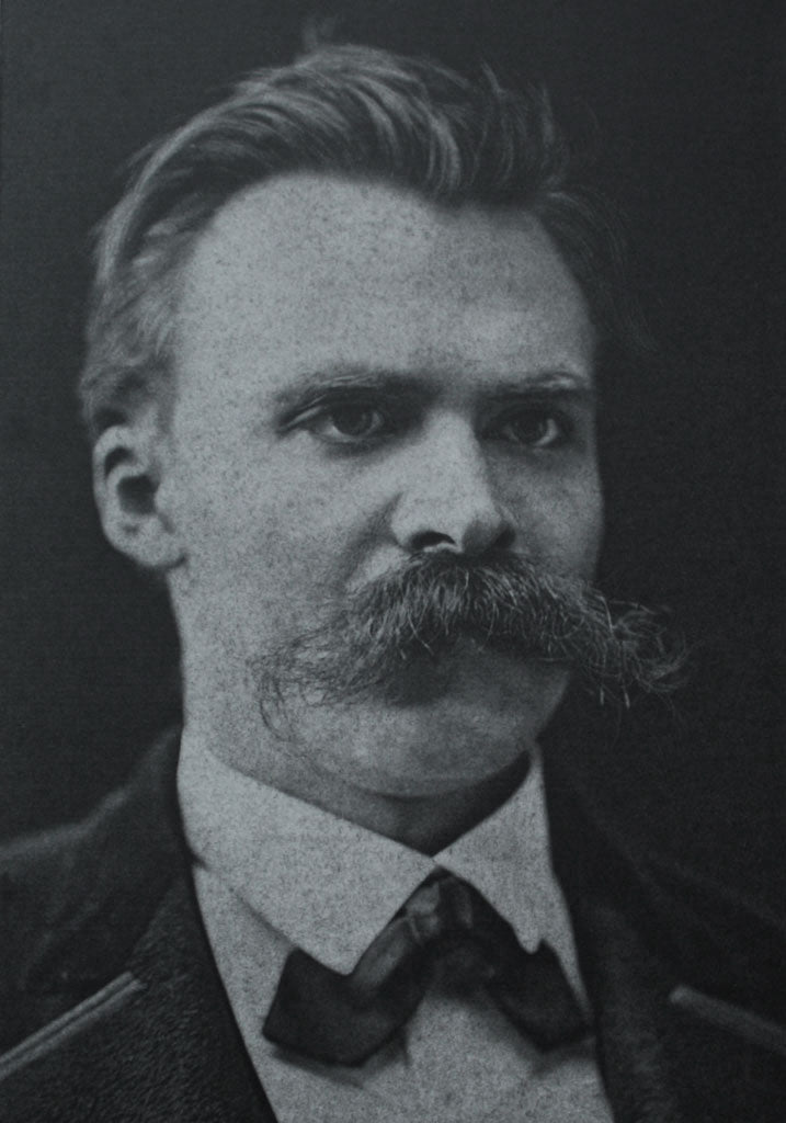 Friedrich Nietzsche - 1875 Portrait (Greetings Card)