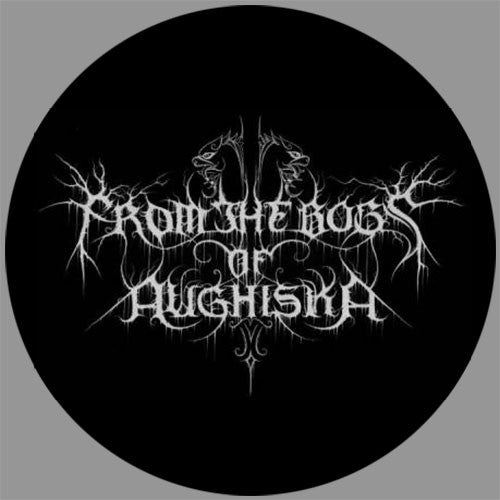 From the Bogs of Aughiska - White Logo (Sticker)